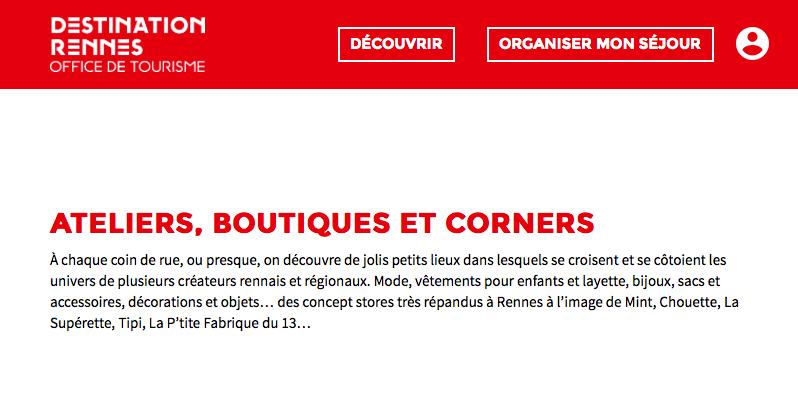Destination Rennes presse boutique de créateurs Chouette à Rennes