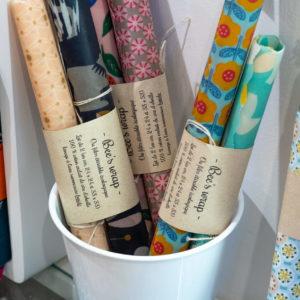 Bee's wrap alternative écologique au film étirable Rennes boutique Chouette