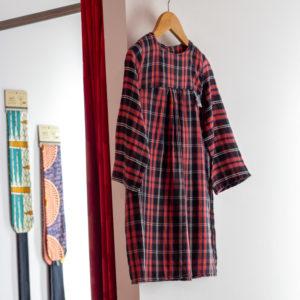 Robe à Carreaux fille C Fée Nature Rennes boutique de créateur cadeau noel
