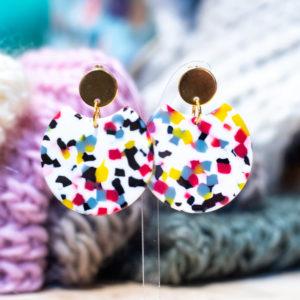 Boucles d'oreilles en résine Rennes créateur cadeau de Noel